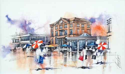 Cafe Nero, Poole by BrianF - Use the 'Create Similar' button to commission an artist to create your own artwork.
