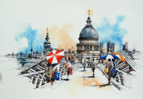 St Pauls by BrianF - Use the 'Create Similar' button to commission an artist to create your own artwork.