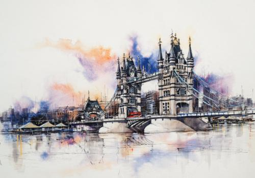 Tower Bridge by BrianF - Use the 'Create Similar' button to commission an artist to create your own artwork.