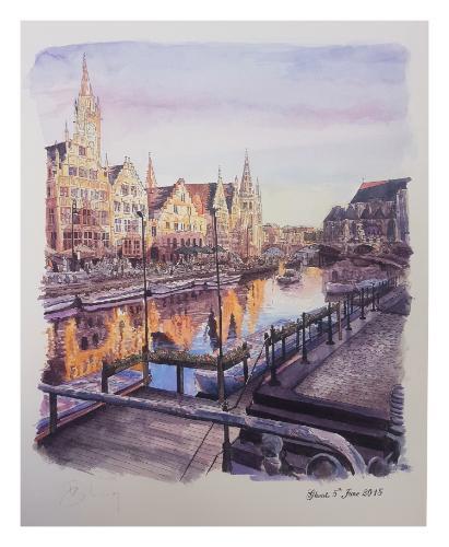 Artwork Ghent - Honeymoon destination