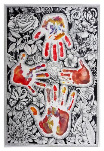 Artwork Family Hand Portrait