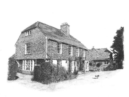 Artwork Graphite Drawing of Client's House