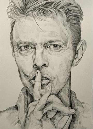 Artwork Bowie Drawing