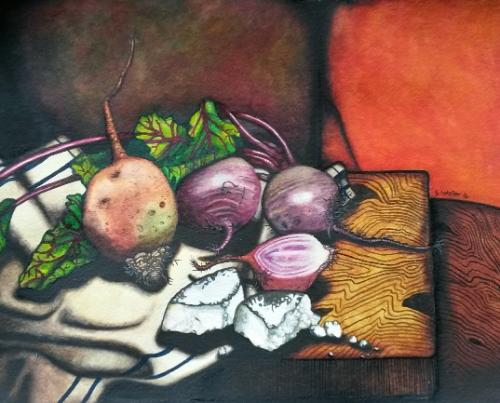 Goats Cheese & Beetroots Three by Scott - Use the 'Create Similar' button to commission an artist to create your own artwork.