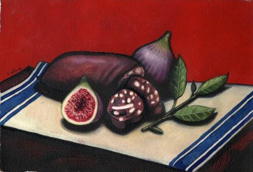 Artwork Bury Black Pudding, Figs & Tea