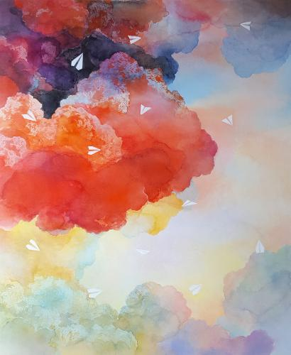 Artwork Migration | Vermilion sky II