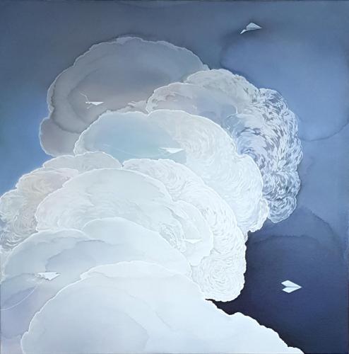 "Artwork Migration | Nebula [39""x39""]"
