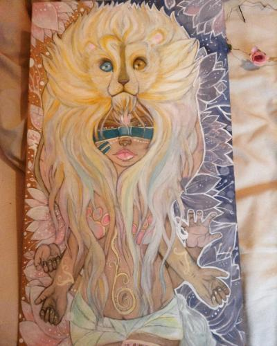 Artwork White lion