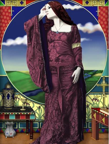 Artwork lady of  Shalott