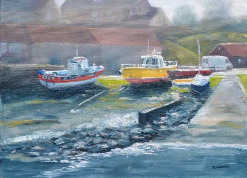 Craster Harbour, Northumbria by NickH - Use the 'Create Similar' button to commission an artist to create your own artwork.
