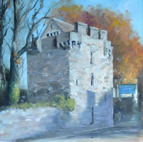Artwork Pele Tower Corbridge Oil Painting
