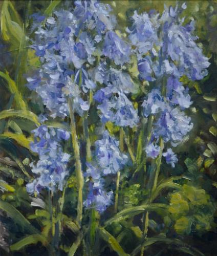 Artwork Bluebells - oil painting