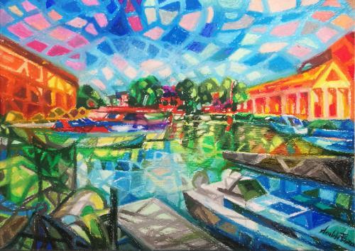 Artwork Londra St Katharine Docks Marina
