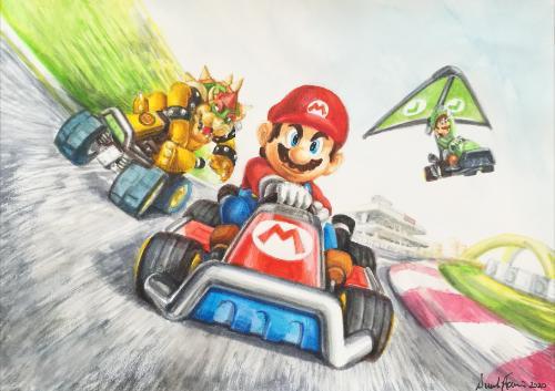 Artwork Super Mario Kart