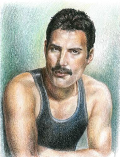 Artwork Freddie Mercury Portrait