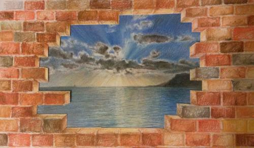 Beyond the bricks by Annalisa - Use the 'Create Similar' button to commission an artist to create your own artwork.