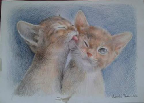 Artwork Kissing kittens