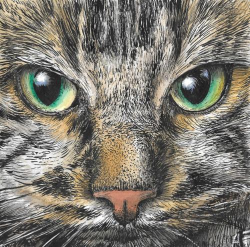 Gatto by Annalisa - Use the 'Create Similar' button to commission an artist to create your own artwork.