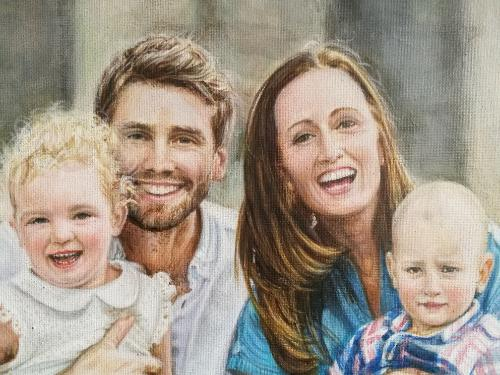 Family Portrait by Annalisa - Use the 'Create Similar' button to commission an artist to create your own artwork.