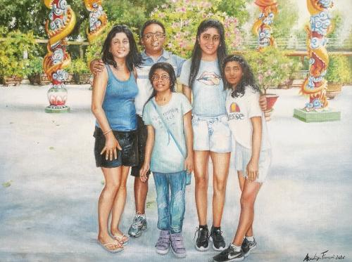 Artwork Geetha and her family.