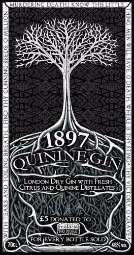 Artwork 'Master of Malt Quinine Gin bottle label'