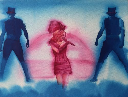 Artwork Kylie Minogue with Dancers