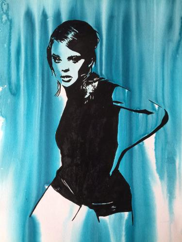 Artwork Kylie Minogue in blue