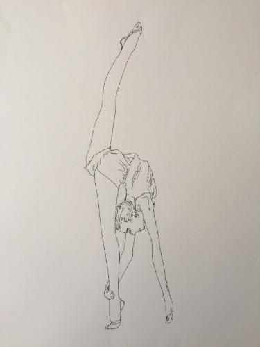 Artwork Gymnast stretching