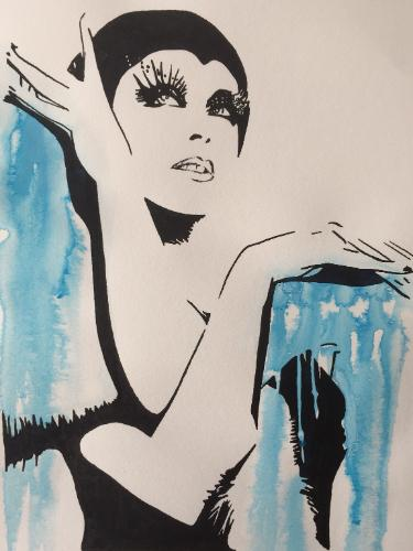 Artwork Kylie Minogue Pop Princess in blue