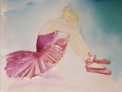 Artwork Resting Ballerina
