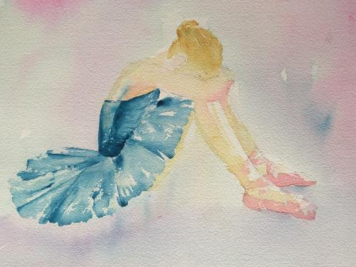 Artwork Ballerina resting