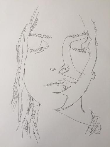 Artwork Portrait of a model