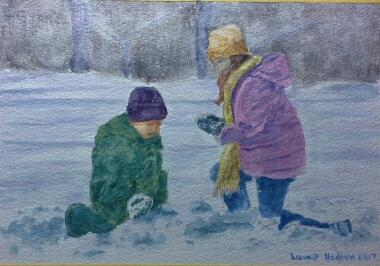 Januay brings the snow by Laine - Use the 'Create Similar' button to commission an artist to create your own artwork.