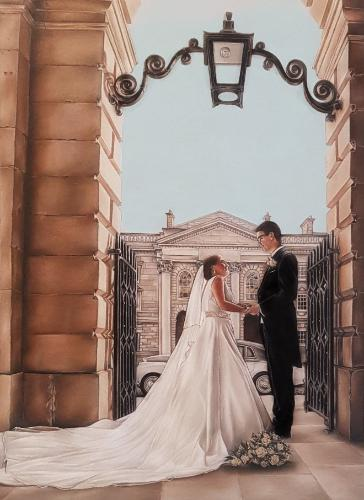 Wedding Portrait by Toria - Use the 'Create Similar' button to commission an artist to create your own artwork.
