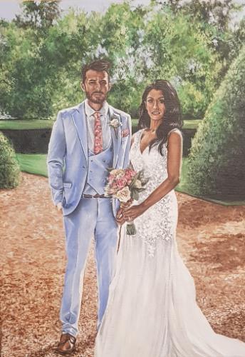 Artwork Wedding Painting