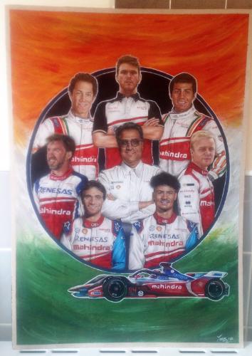 Artwork Mahindra Racing Team