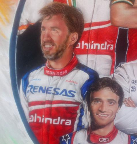 Mahindra Racing Team by Toria - Use the 'Create Similar' button to commission an artist to create your own artwork.