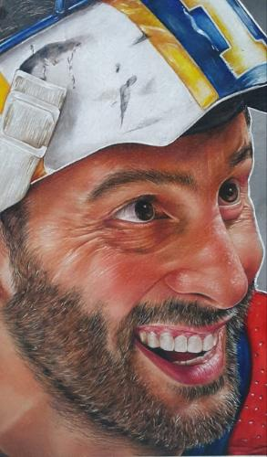 Portrait of Roberto Luongo by Toria - Use the 'Create Similar' button to commission an artist to create your own artwork.
