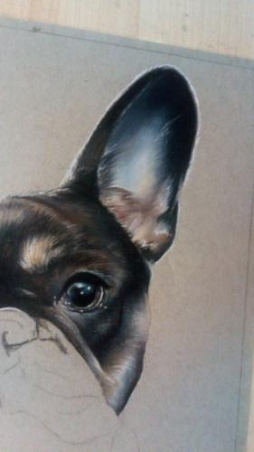 French Bulldog Portrait by Toria - Use the 'Create Similar' button to commission an artist to create your own artwork.