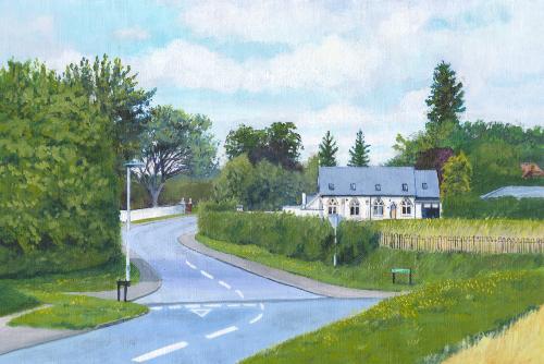 Artwork Towards Commercial End, Swaffham Bulbeck