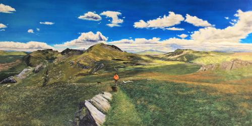 Snowdonia Panoramic by JamieS - Use the 'Create Similar' button to commission an artist to create your own artwork.