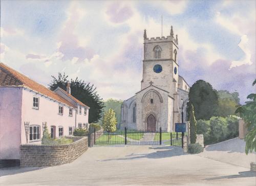 Artwork Parish church of Bottisham, Cambridgeshire